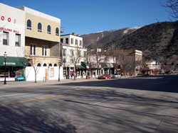 Downtown View of Glenwood Springs, Colorado (CO)