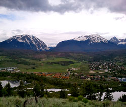 Arial View of Silverthorne, Colorado (CO)