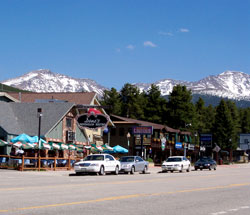 Downtown View of Winter Park, Colorado (CO)