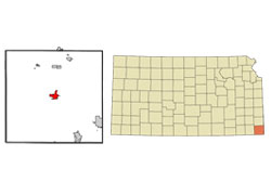 Map of Columbus, Kansas (KS) and Surrounding Area