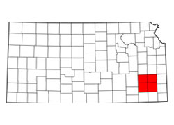 Map of Four County, Kansas (KS) and Surrounding Area