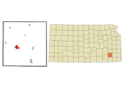 Map of Fredonia, Kansas (KS) and Surrounding Area