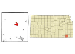 Map of Independence, Kansas (KS)