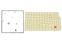 Map of Neodesha, Kansas (KS)