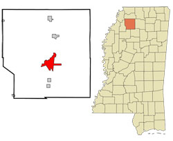 Map of Batesville, Mississippi (MS) and Surrounding Area
