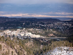 Arial View of Los Alamos, New Mexico (NM)