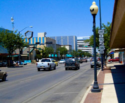 View of Main Street in Roswell, New Mexico (NM)