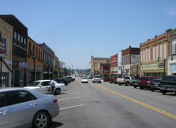 Downtown view of Claremore, Oklahoma (OK)