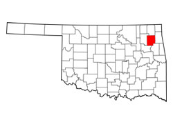 Map of Mayes County, Oklahoma (OK) and Surrounding Area