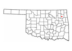 Map of Pryor, Oklahoma (OK) and Surrounding Area