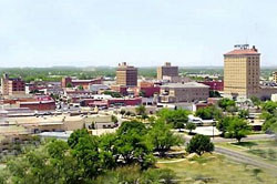Downtown View of San Angelo, Texas (TX)