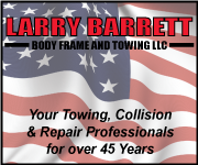 Larry Barrett: Body Frame and Towing - Your Towing, Collision & Repair Professionals for over 43 Years