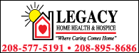 Legacy Home Health & Hospice: Where Caring Comes Home | 208-577-5191 | 208-895-8686