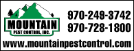 Mountain Pest Control: 970-249-3742 | 970-728-1800