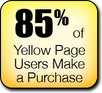 85% of Yellow Page Users make a Purchase